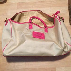 Pink/tan Victoria's Secret Duffle bag